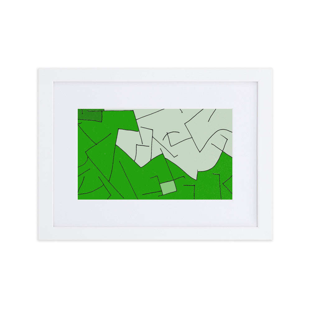 Framed Print: Doktor Fear's Wall Art (Green) - Benbo Global Megastore