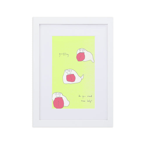 Framed Print: Geoffrey Do You Need Some Help? - Benbo Global Megastore