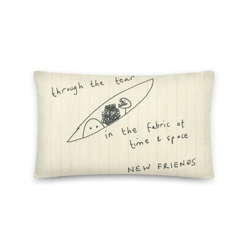 Cushion: Through The Tear In The Fabric Of Time And Space - New Friends - Benbo Global Megastore