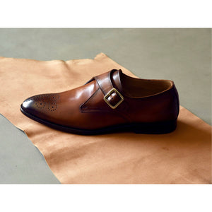 Single Monkstraps - Tan