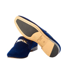 Load image into Gallery viewer, Velvet Loafers - Blue
