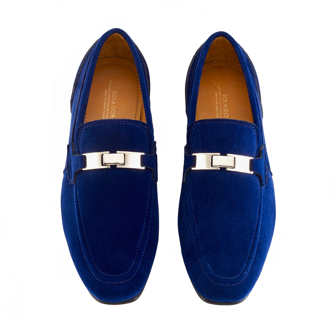 Velvet Loafers - Blue