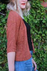 Cropped Cardigan - Rust