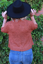 Load image into Gallery viewer, Cropped Cardigan - Rust