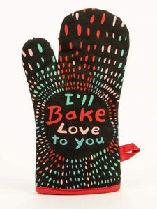 BLUE Q Blue Q Oven Mitts I'll Bake Love To You Oven Mitt