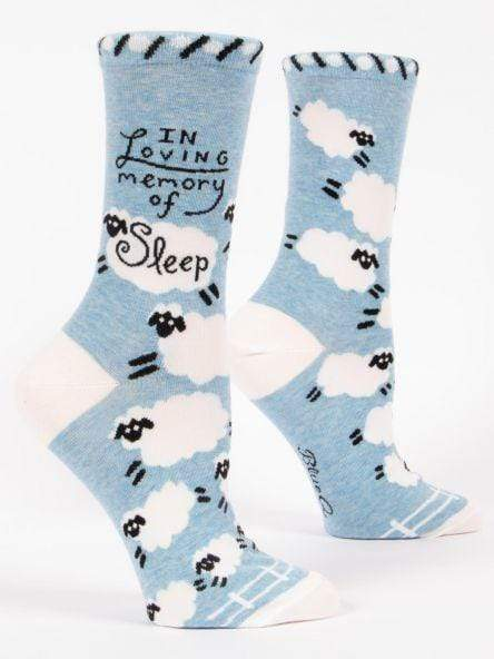 Blue Q In Loving Memory Of Sleep Crew Sock