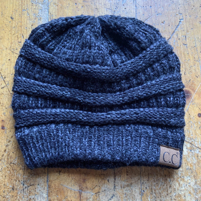 CC CC Beanies CC Beanie - Basic Solid - Heathered Black