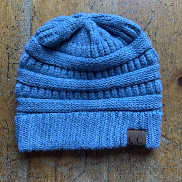 CC CC Beanies CC Beanie - Basic Solid - Heathered Blue
