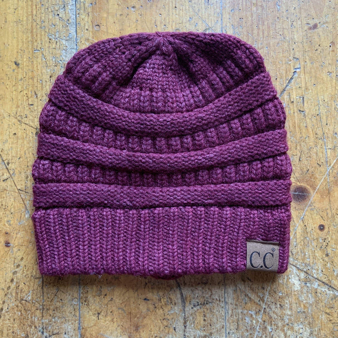 CC CC Beanies CC Beanie - Basic Solid - Heathered Burgundy