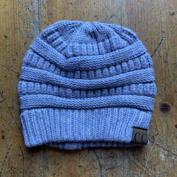 CC CC Beanies CC Beanie - Basic Solid - Heathered Light Grey