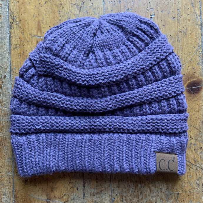 CC CC Beanies CC Beanie - Basic Solid - Purple