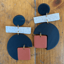 Load image into Gallery viewer, EnergynSoul Earring - Colorblock Dion Dangle