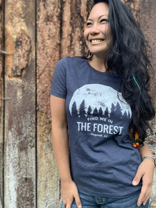 Find Me In The Forest Tee - Navy