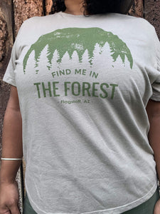 Find Me In The Forest Tee - Stone