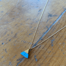 Load image into Gallery viewer, Sage Brush Gold Capped Stone Mountain Necklace - Turquoise