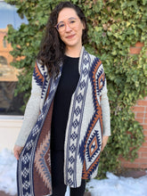 Load image into Gallery viewer, OCEANUS Apparel Diamond Back Cardigan - Taupe