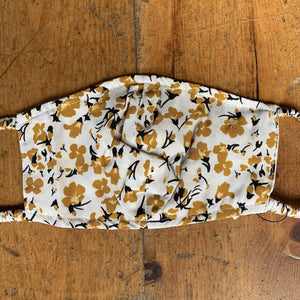 Facial Covering - Mustard Floral