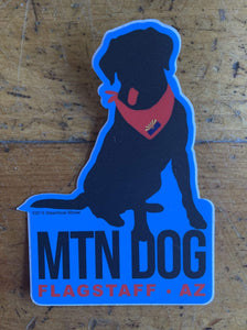Mtn Dog With Bandana Sticker