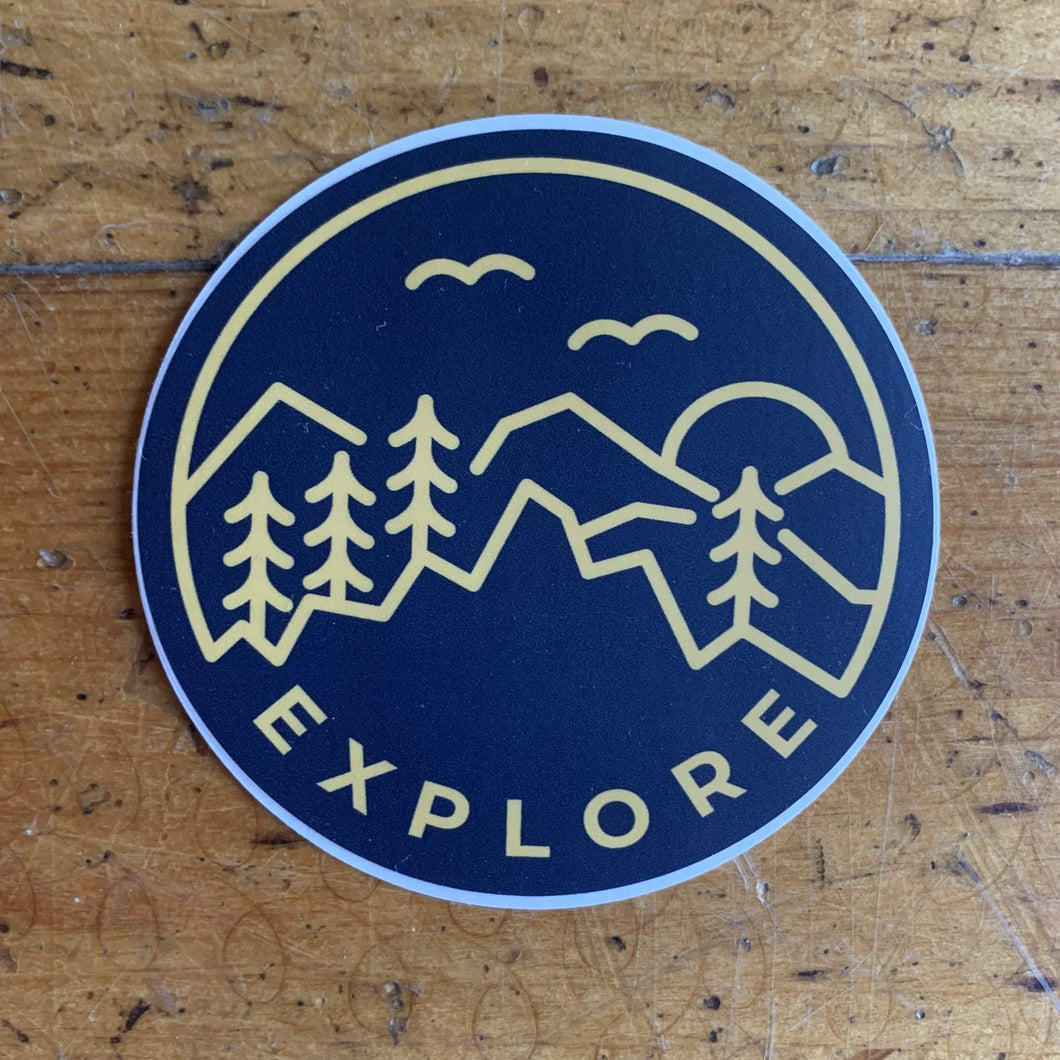 Explore Blue & Yellow Sticker