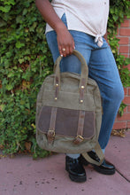Load image into Gallery viewer, Backpack Tote - Military Green