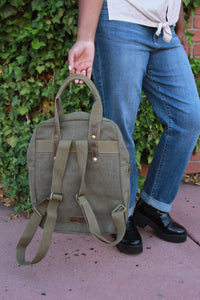 Backpack Tote - Military Green