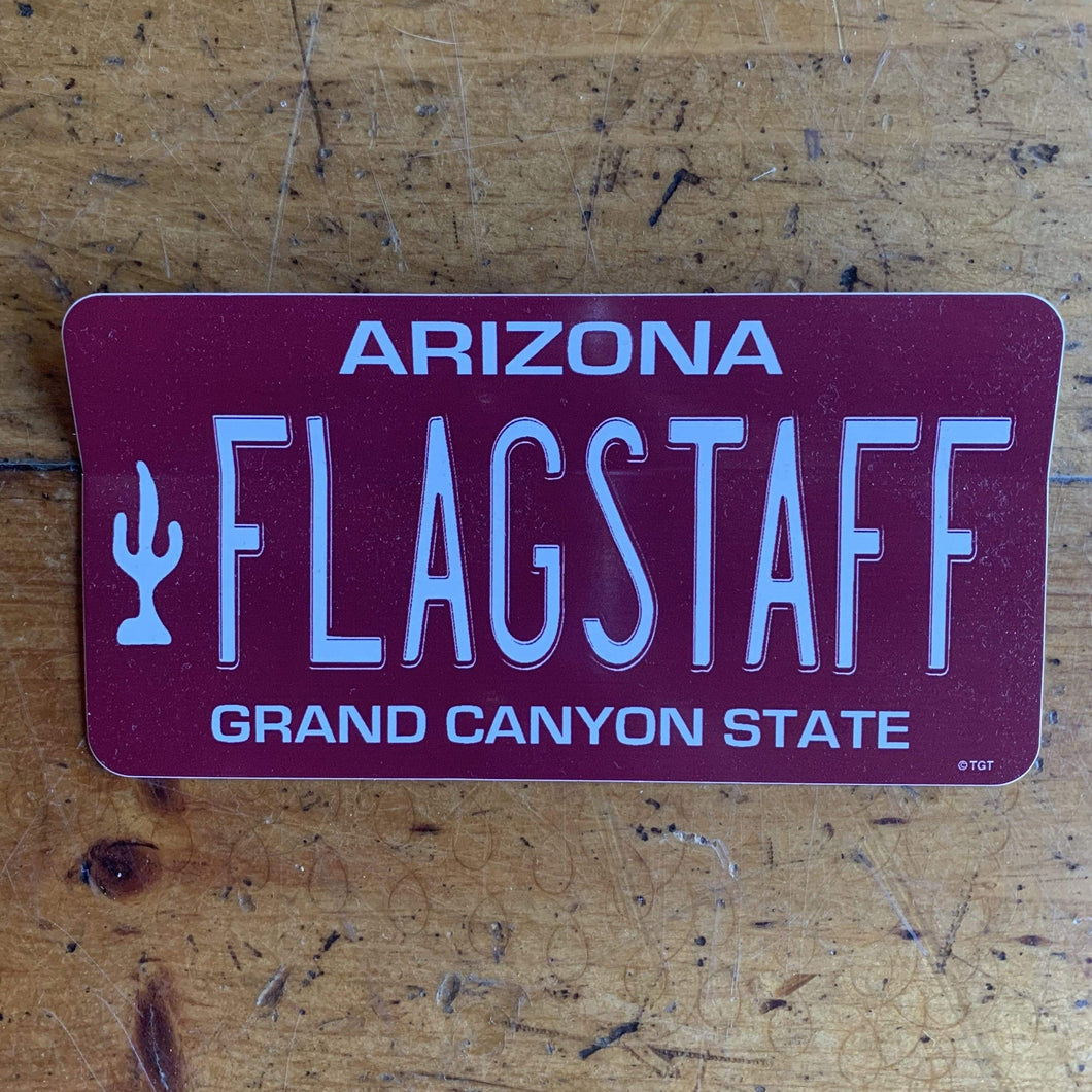 Flagstaff License Plate Sticker