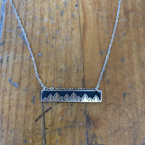 The Bearded Jeweler - Treeline Horizontal Bar Necklace