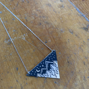 The Bearded Jeweler - Under The Sky Triangle Necklace