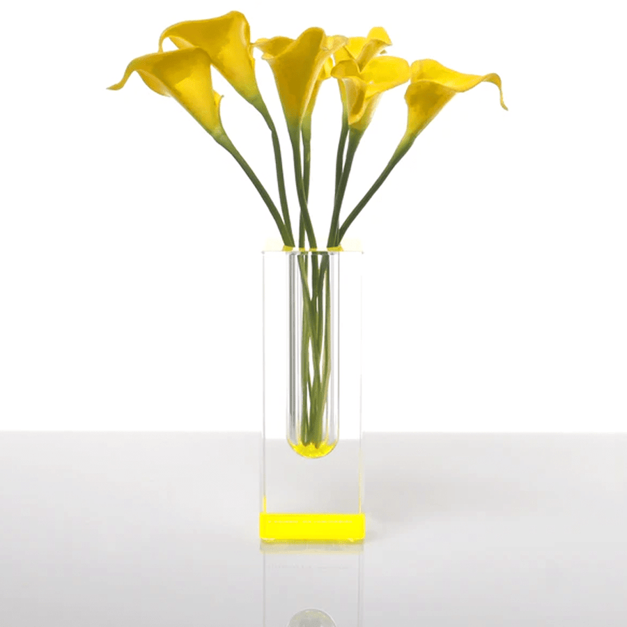 BLOOMIN' VASE YELLOW TALL