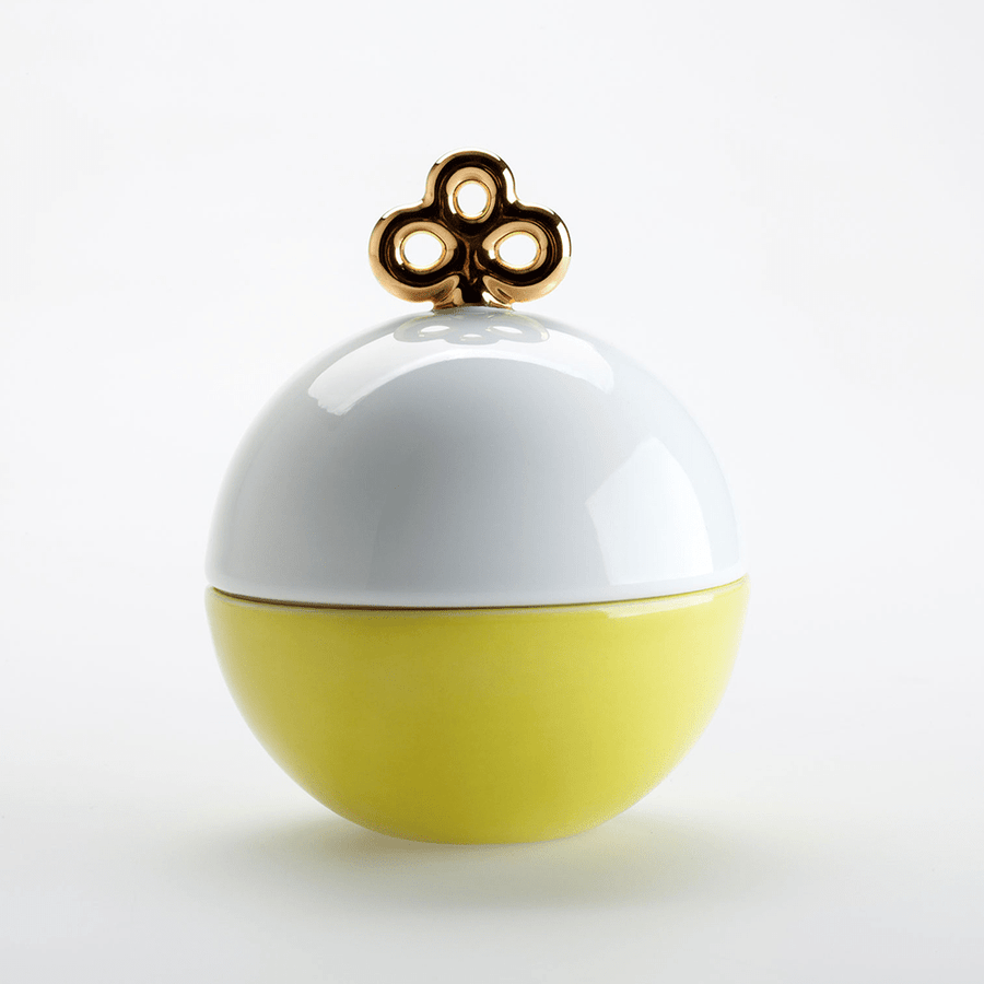 MAGIC BALL BOX WHITE AND YELLOW