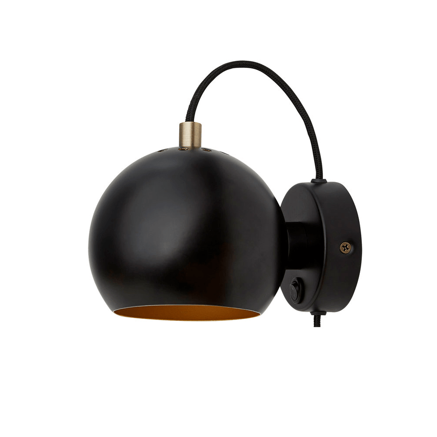 BALL WALL MAGNET LAMP BLACK