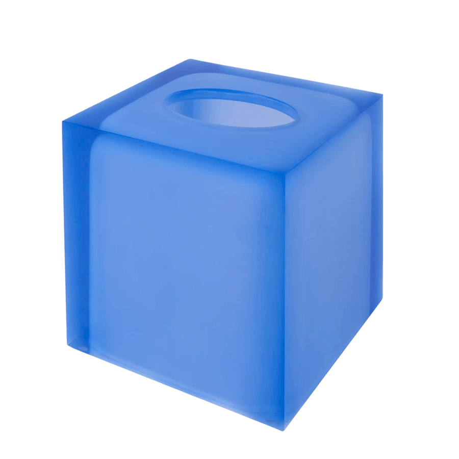 Jonathan Adler Accesorios de baño HOLLYWOOD TISSUE BOX BLUE