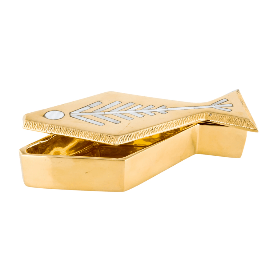 Jonathan Adler Cajas BRASS FISH BOX