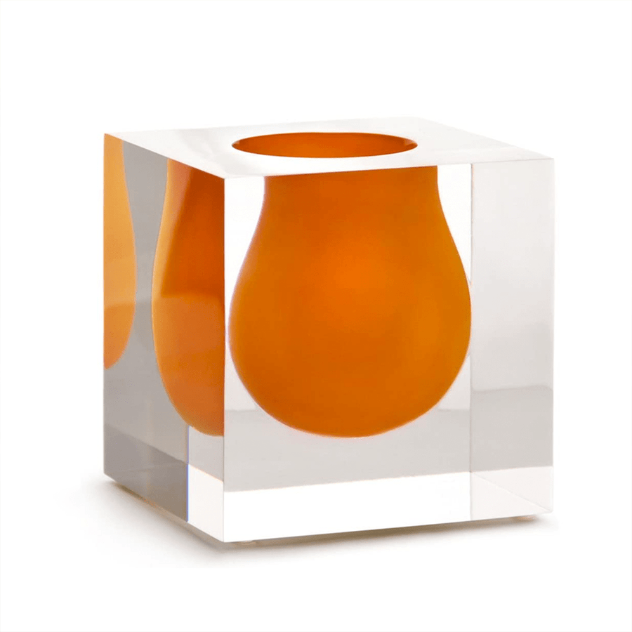 BEL AIR MINI SCOOP VASE ORANGE