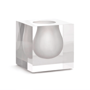 Jonathan Adler Floreros BEL AIR MINI SCOOP VASE WHITE