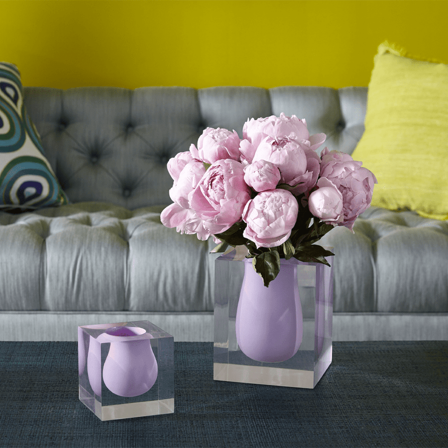 BEL AIR SCOOP VASE LILAC