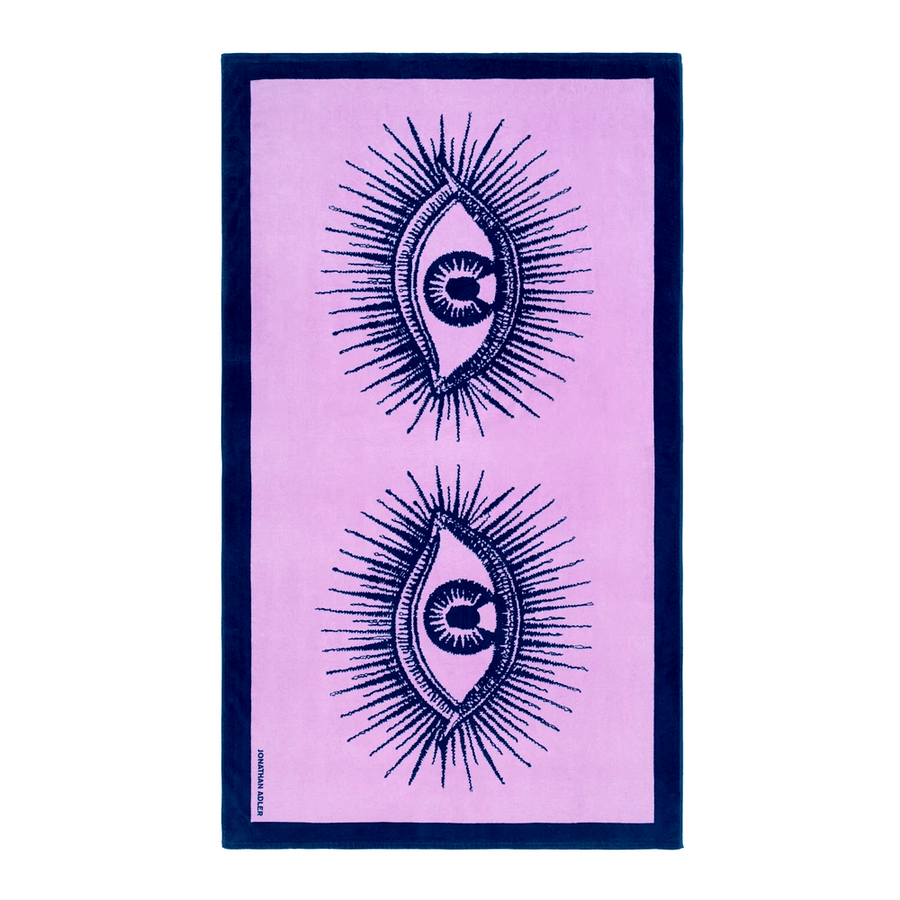 Jonathan Adler Toallas de playa EYES BEACH TOWEL