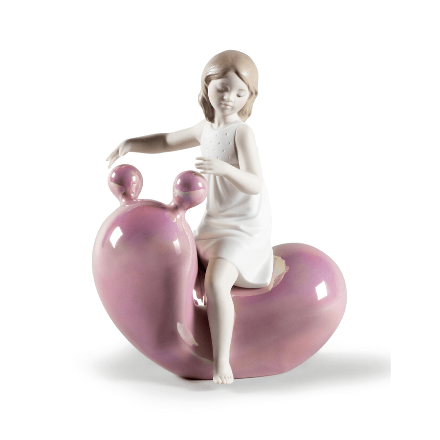 MY SEESAW BALLOON GIRL FIGURINE PINK