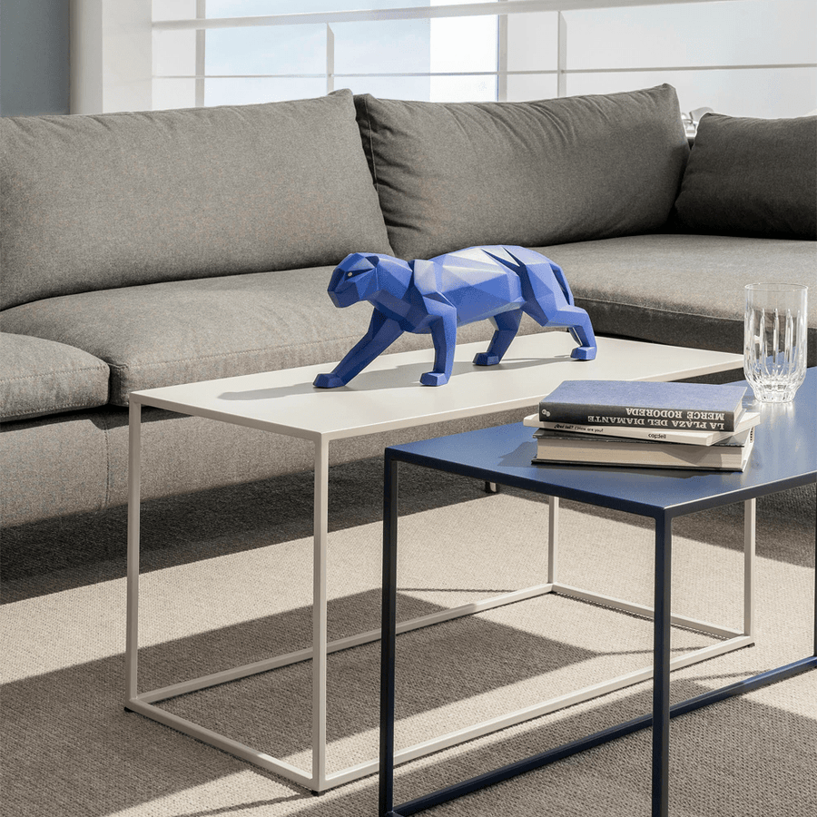 PANTHER FIGURINE BLUE MATTE