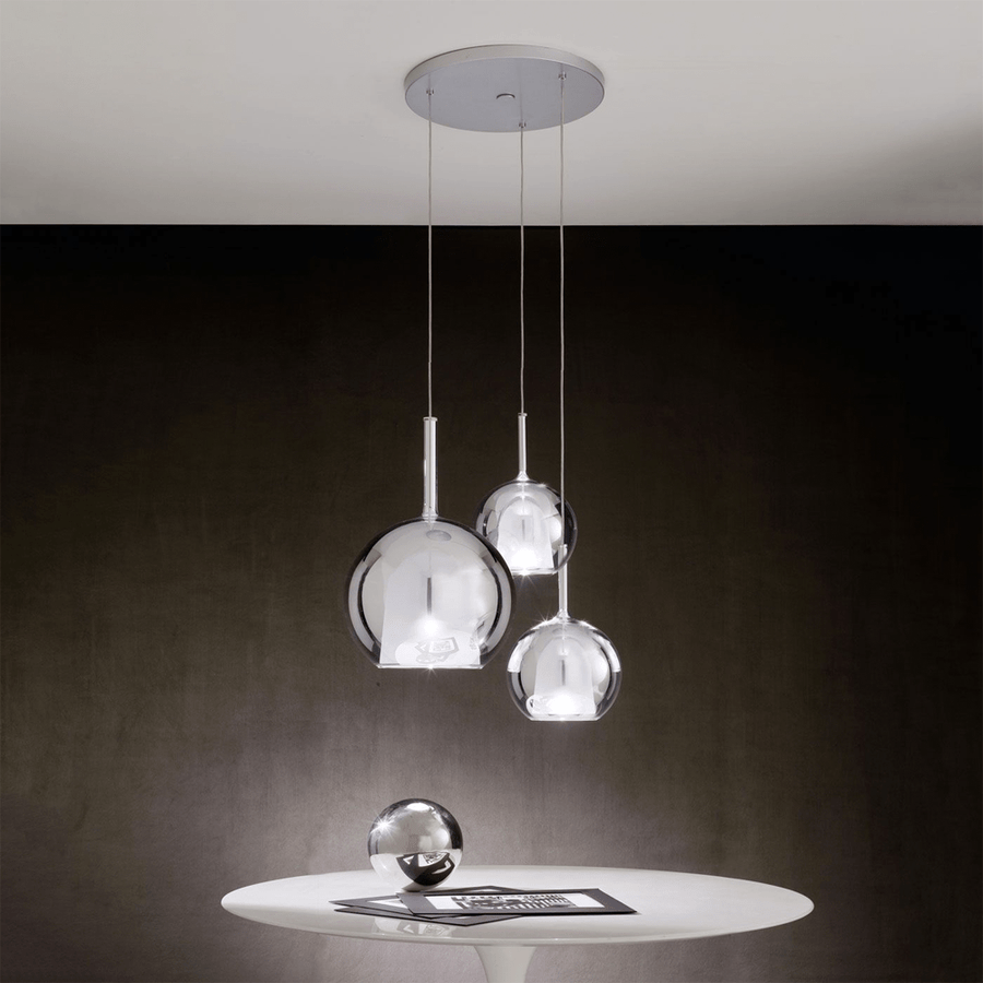 GLO LARGE PENDANT SILVER