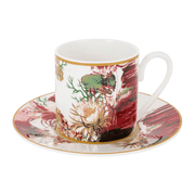 Roberto Cavalli Tazas FLOWERS 122 COFFEE CUP AND SAUCER SET x 2