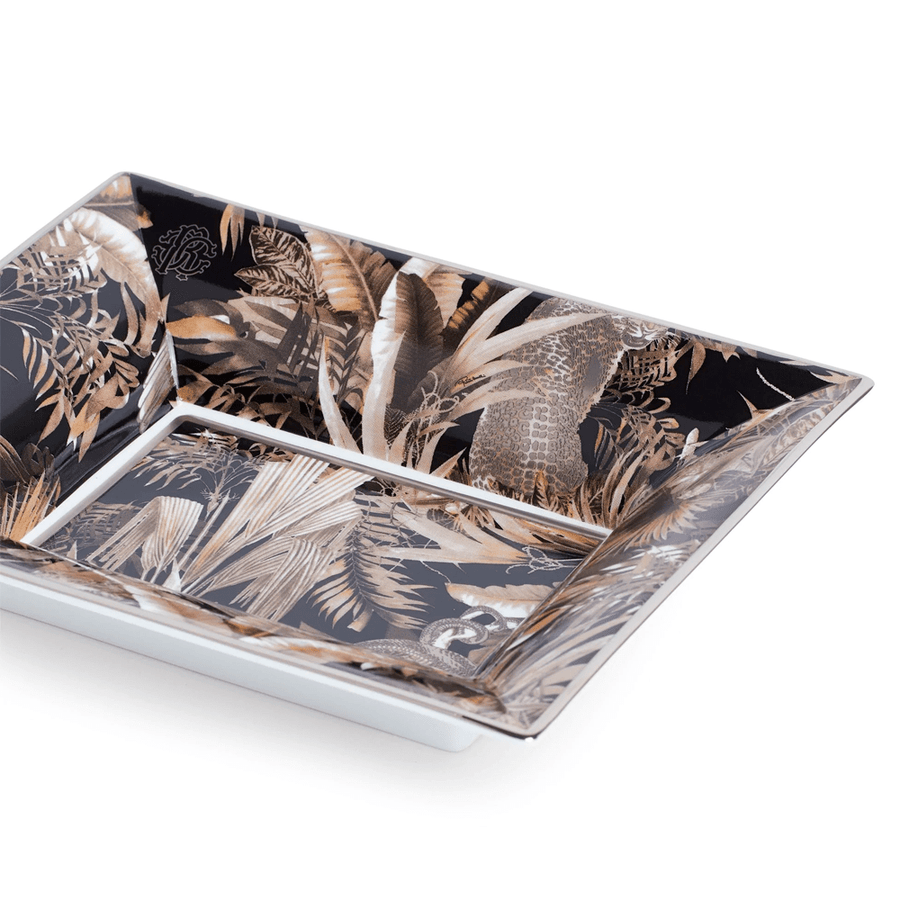Roberto Cavalli Vajillas TROPICAL JUNGLE TIDY TRAY BLACK