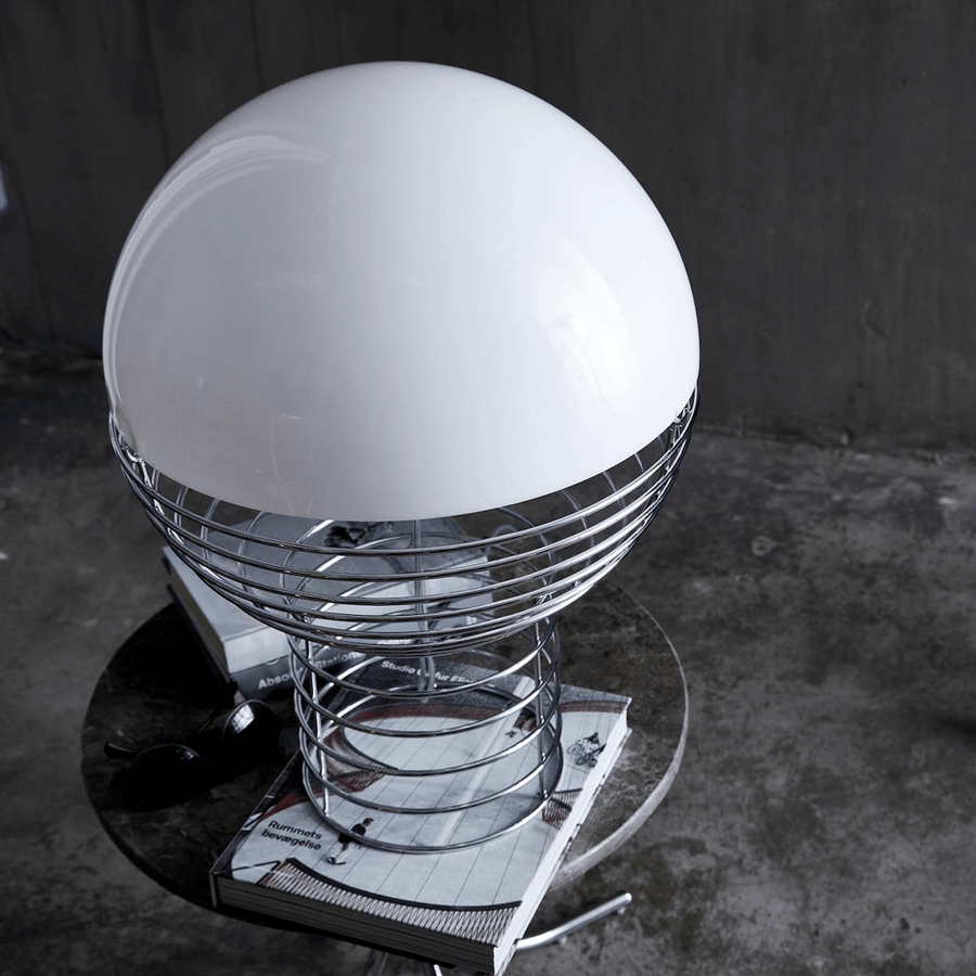 WIRE LARGE TABLE LAMP WHITE