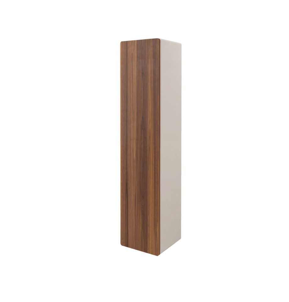 Mossman Wall Storage Unit - Walnut Front + High Gloss White