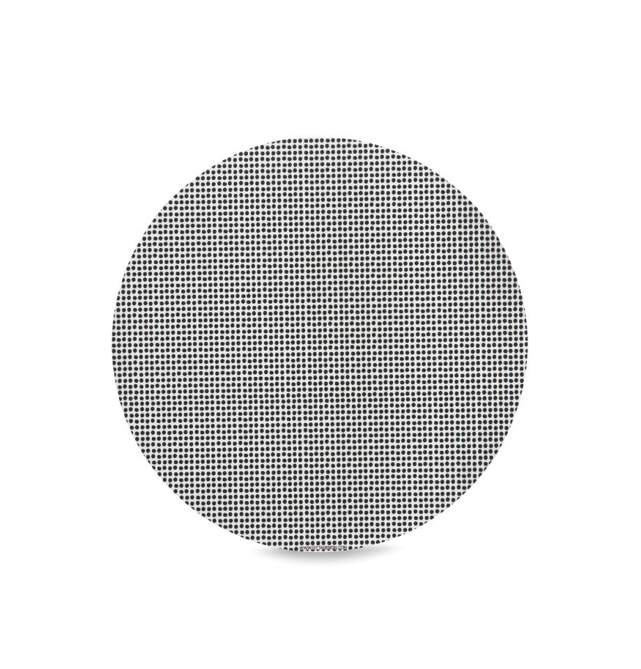 Citta Design Polka Dot Round Placemat - Black