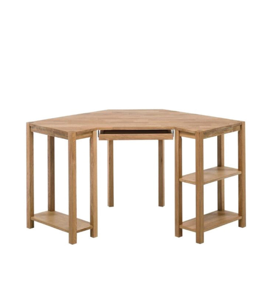 Modena Oak Corner Writing Desk
