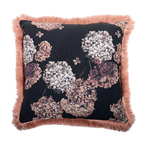 Cushion - Blooms Fringed - Square