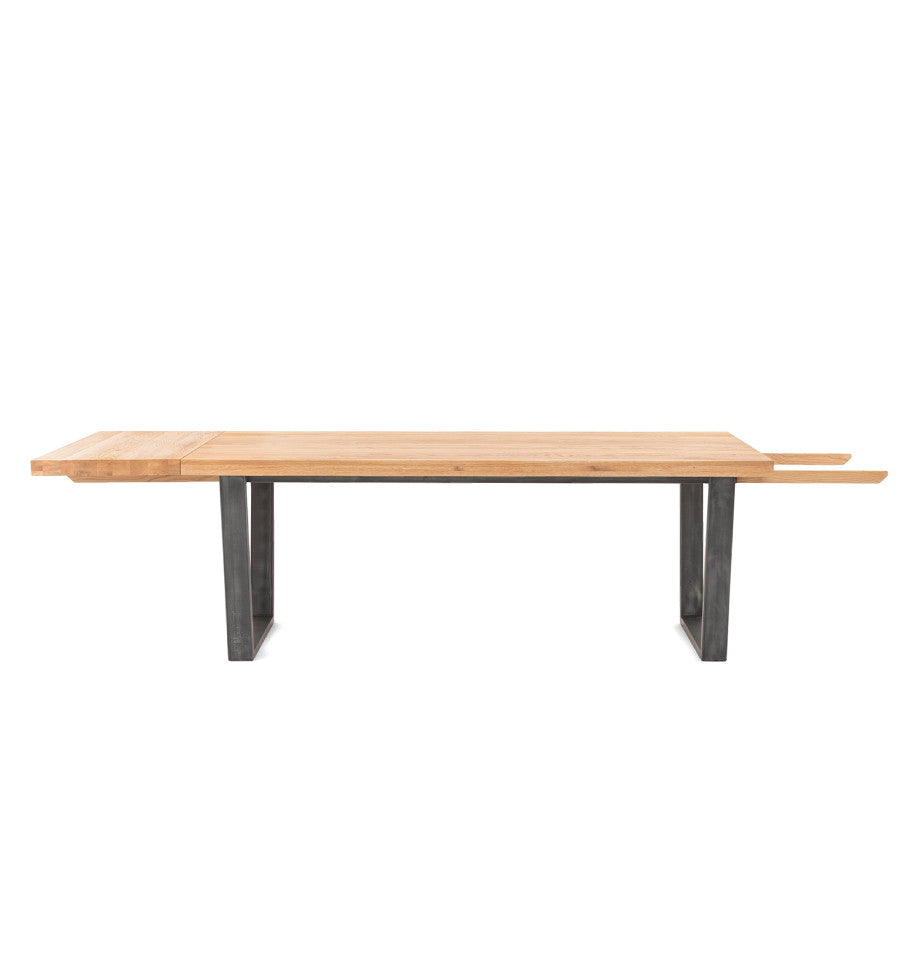 Calia Extendable Dining Table 240cm - Oak & Iron