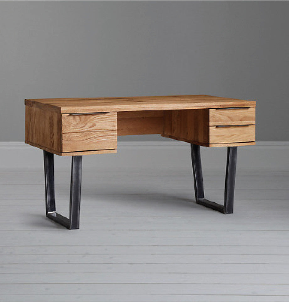 Calia Writing Desk - Oak & Iron