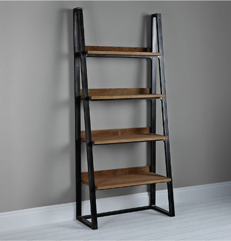 Calia Bookcase - Oak & Iron